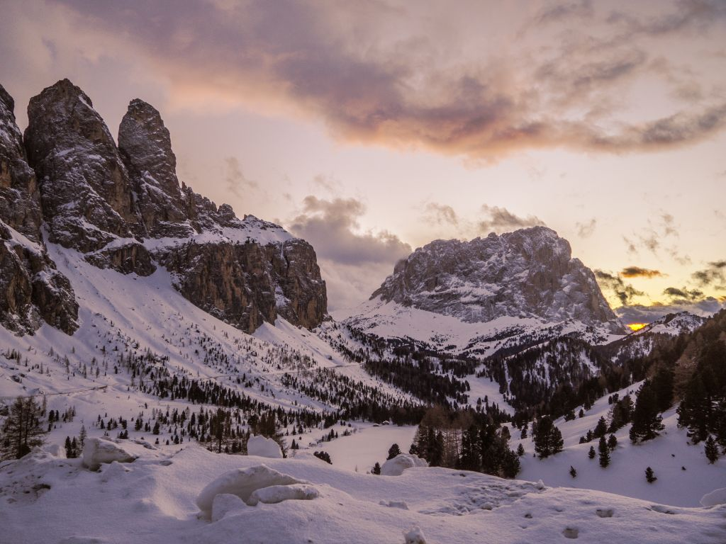 Sunset in Alta Badia