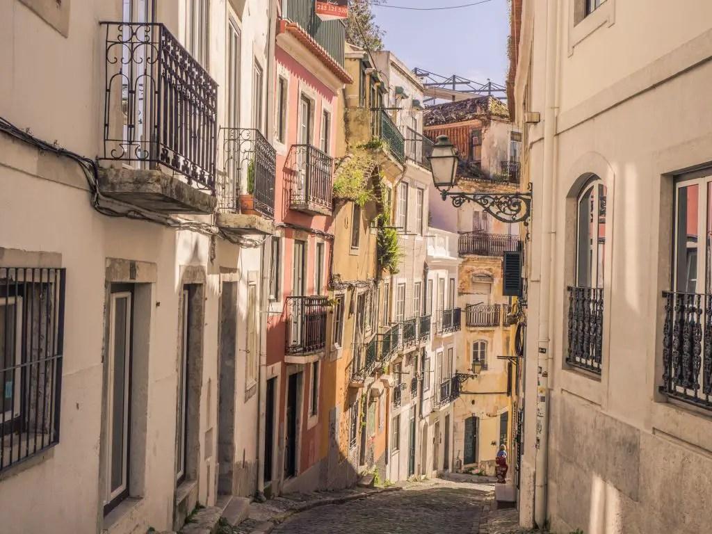 Lisbon streets portugal