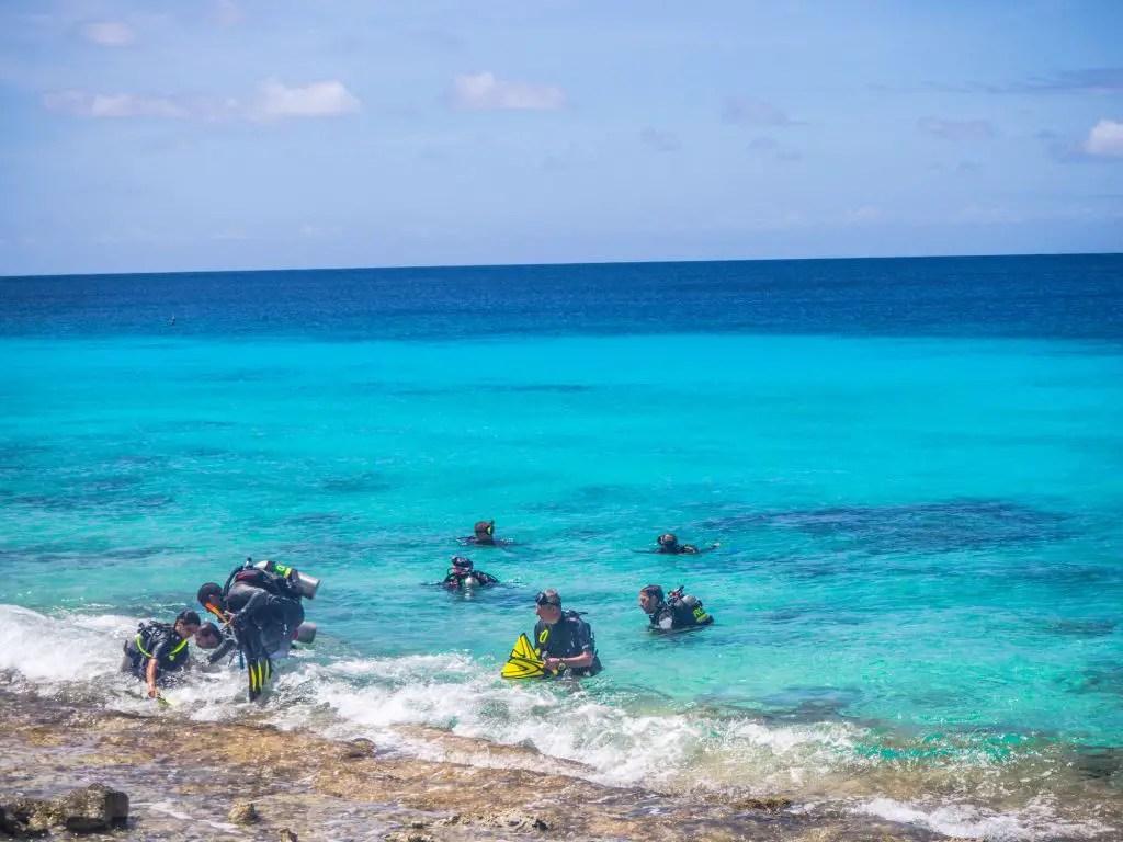 Diving bonaire shore diving