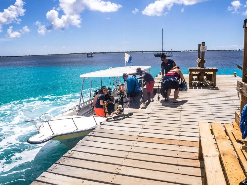Boat diving Bonaire