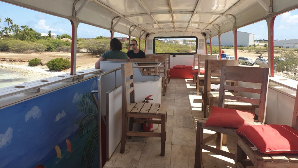 Upstairs of the stoked food truck