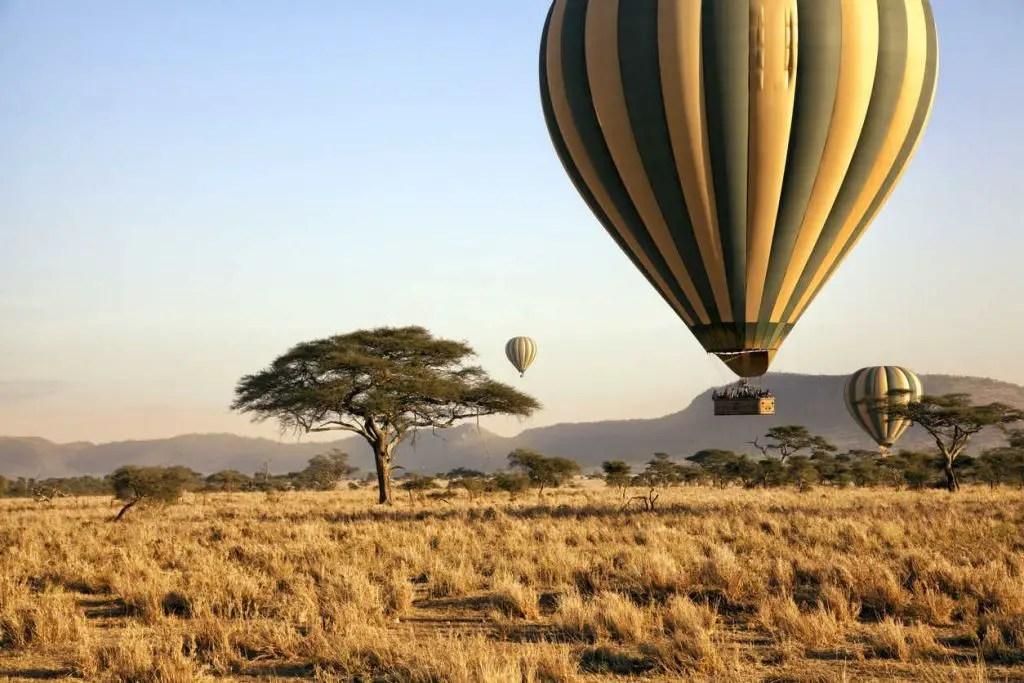 serengeti hot air balloon ride