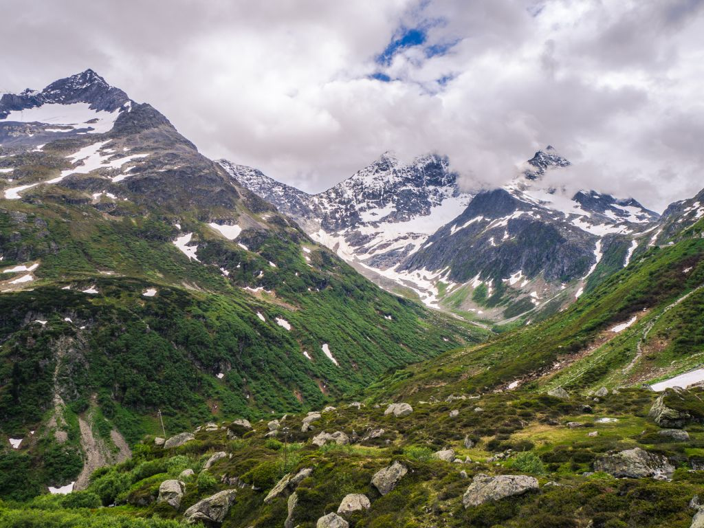 Switzerland mountain terrain