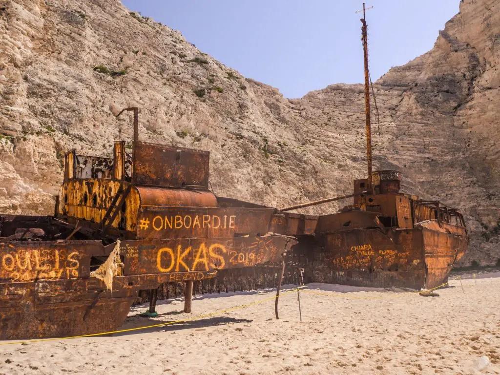 shipwreck beach navaggio