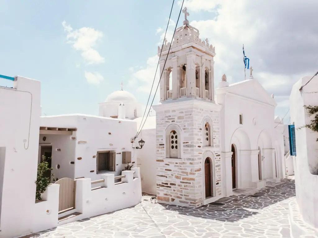 Marpissa town paros greece
