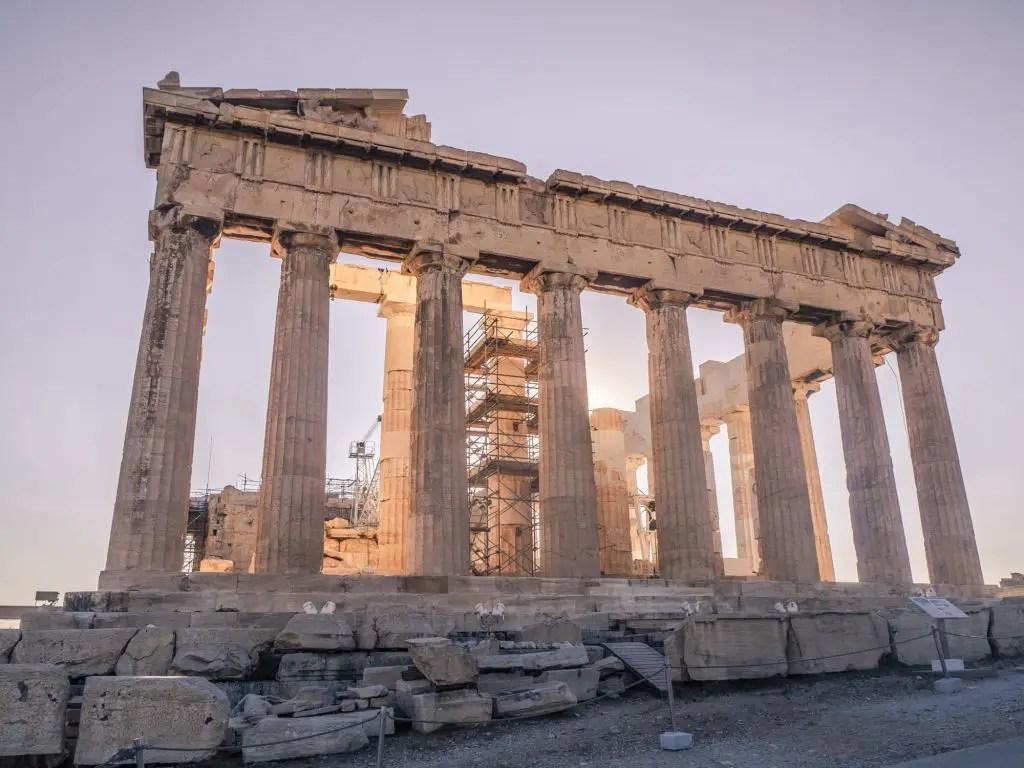 Walking towards the Parthenon