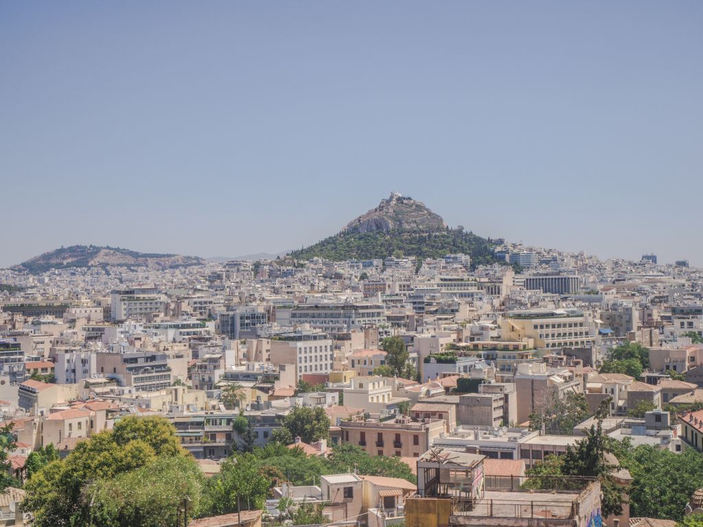 views of athens