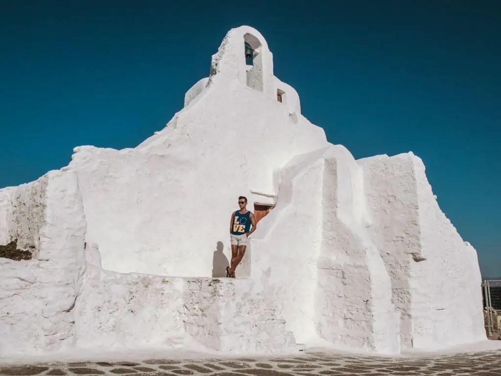 Church in mykonos