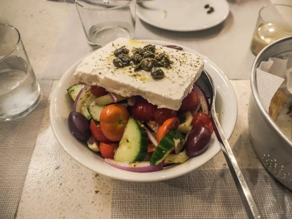 Greek salad melatini