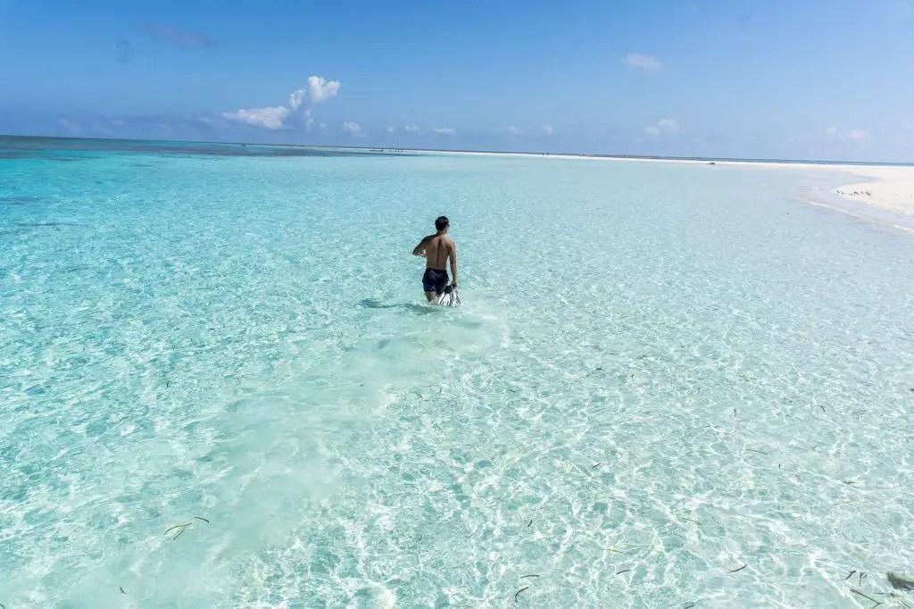pemba sandbank tanzania beach