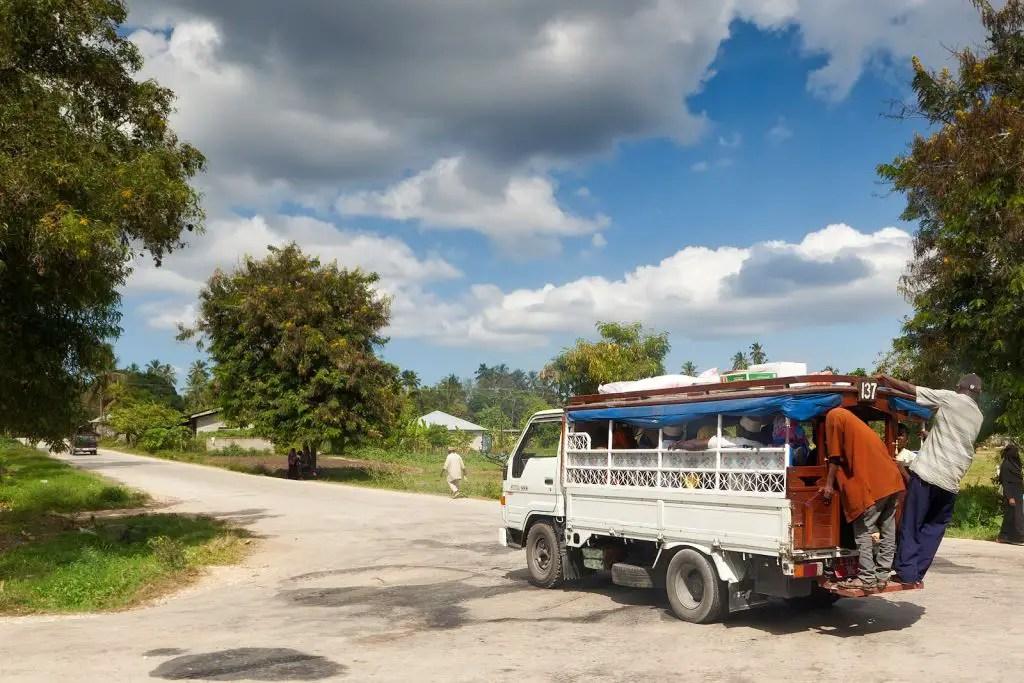 Typical Dala dala in Zanzibar
