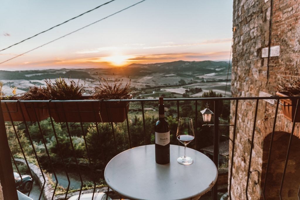 Wine from the Airbnb montepulciano