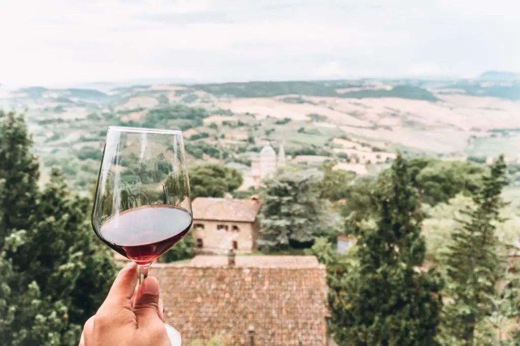 Wine in Montepulciano