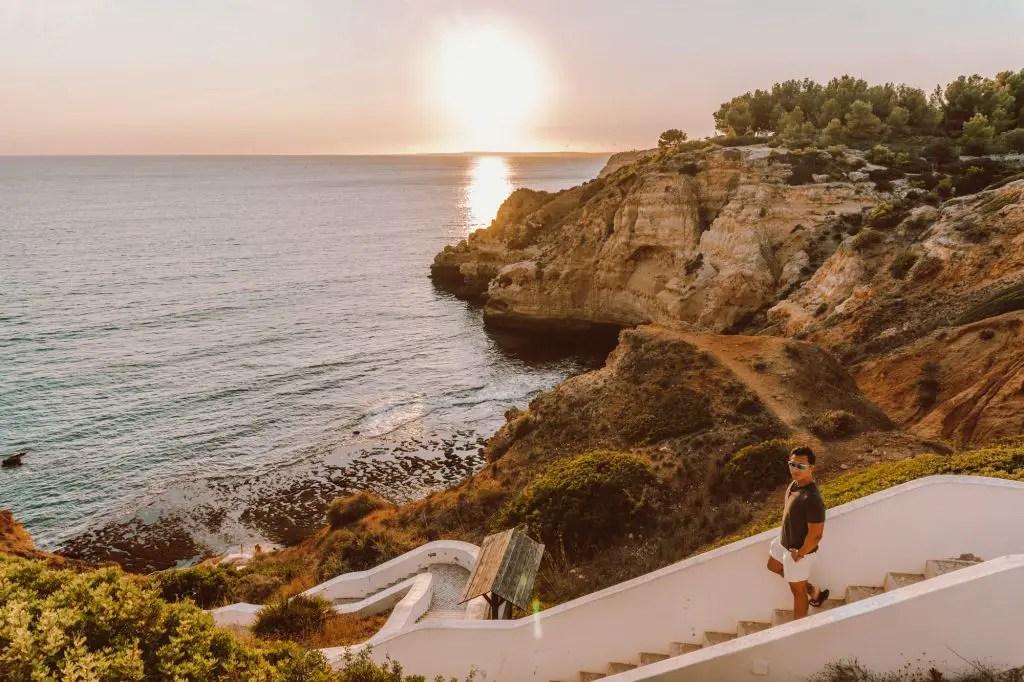 Carvoeiro Town Portugal Algarve sunset