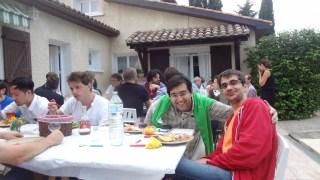 Dinner at the Saurraut's