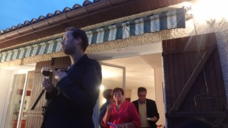 Serafim giving a toast for the Saurraut's--one of our hosts.