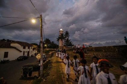 Lighthouse in the evening, Galle, Sri Lanka