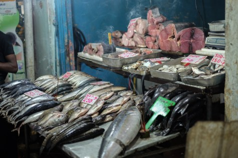 Shopping for fish at the market in Nuwara Eliya, Sri Lanka