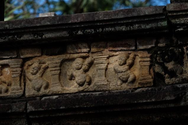 Dancing dwarfs at Polonnaruwa, Sri Lanka