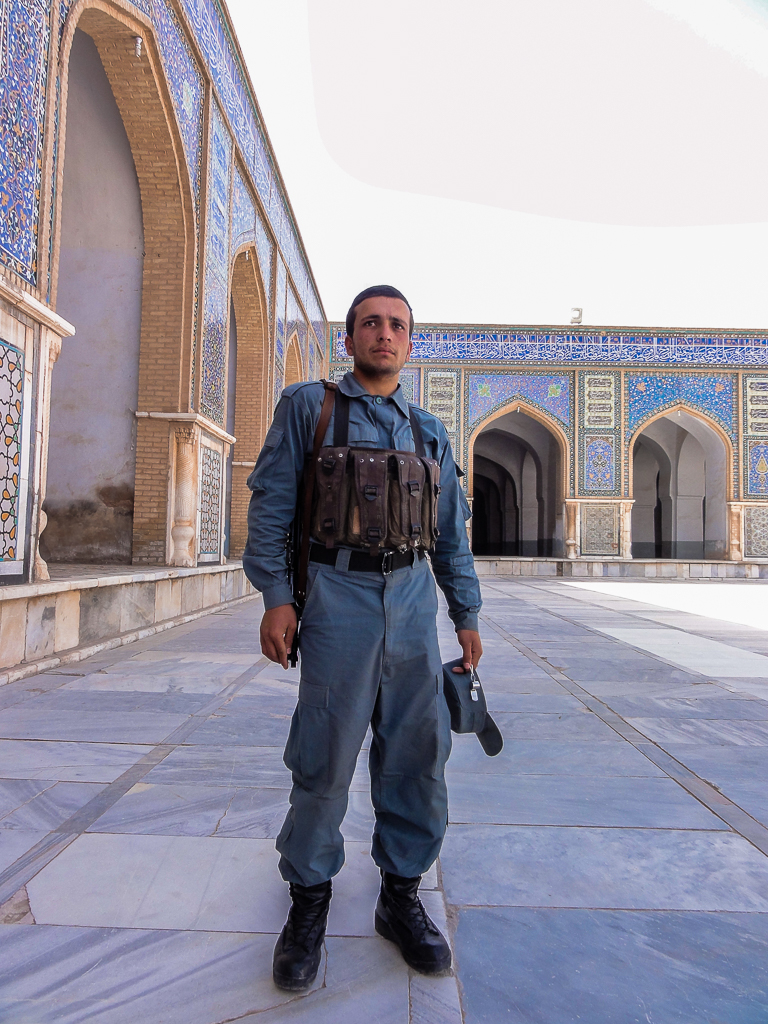 Afghanistan Herat Security Guard Friday Mosque-02958