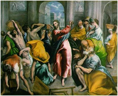 jesus overturns tables