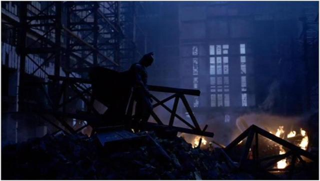 batman in ruins