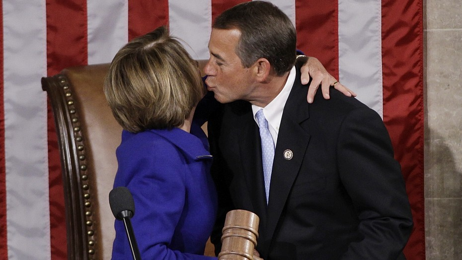 boehner kisses pelosi
