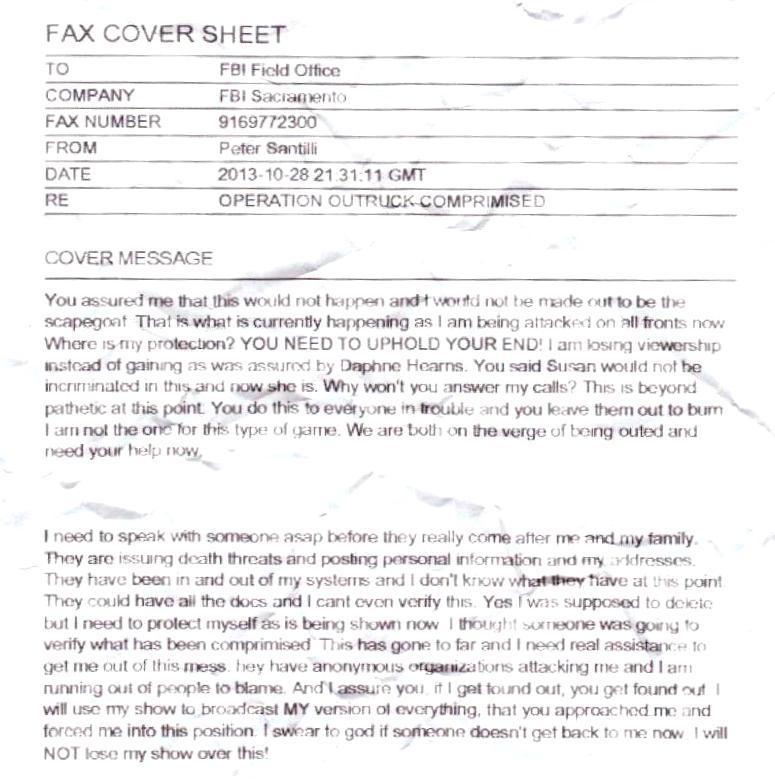 santilli fbi fax cover