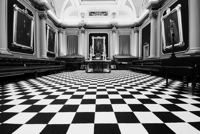 freemasonic lodge floor tiles