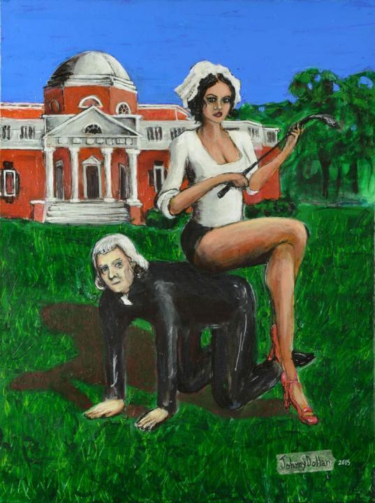Tommy and Sally, painting by artist Johnny Dollar www.johnnydollar.biz