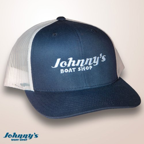 Johnnys Boat Shop Navy Ball Cap