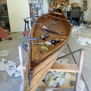 Wooden boat gunwale repair