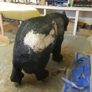 Wooden bear repair