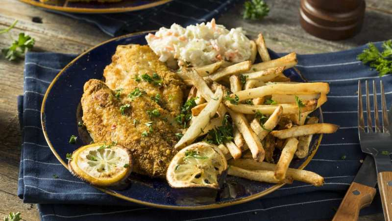 Fried catfish and fries