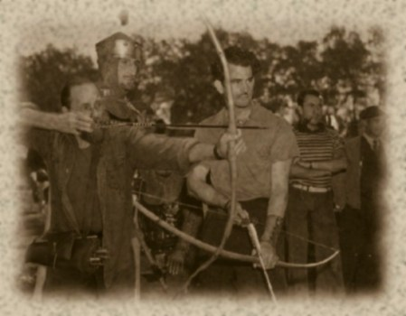 that's me shooting with the great Howard Hill on the set of Robin Hood. ;)