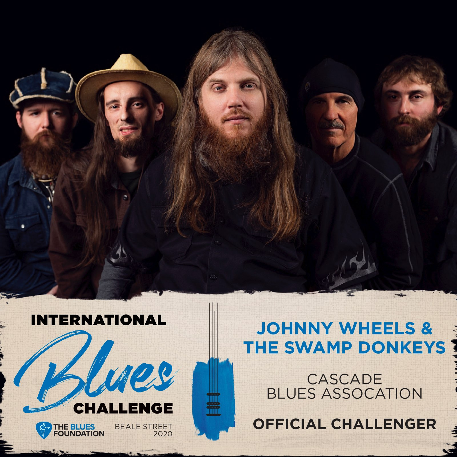 Johnny Wheels and The Swamp Donkeys Band - International Blues Challenge 2020 Poster