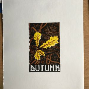 Autumn – linoprint
