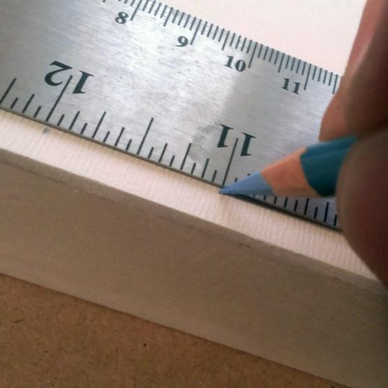 ruler grid on canvas