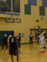 Senior Pernell Adgei shoots a free throw (Photo by: Paul Fritschner)