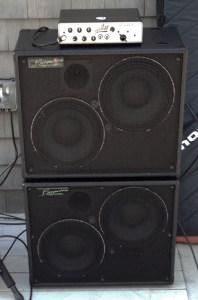 Aguilar Tone Hammer 500 & a pair of Bergantino AE210s