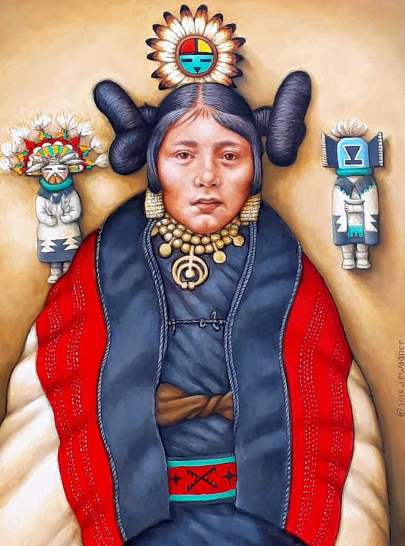 Hopi Maiden W Katchina Dolls