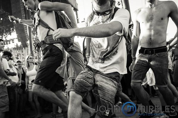 Mosh pit at the Coachella Music Festival