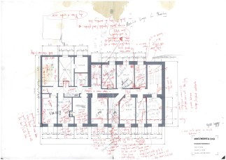 huguenot house plans-formulated with Theaster Gates. notes and writing by John Preus. archival inkjet print. 2012 (price upon request)