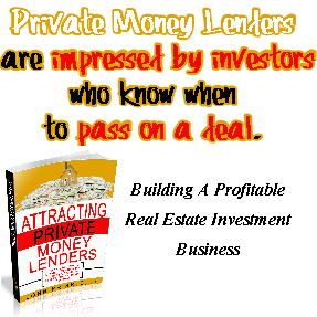 Private Money Lenders are impressed by investors