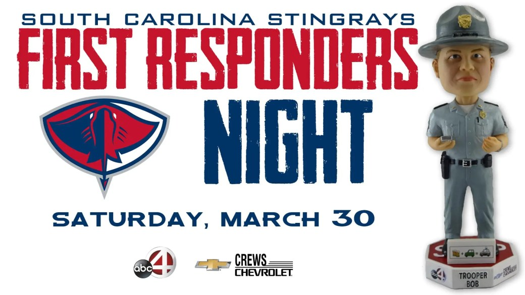 Stingrays Giveaway   First Responders Night