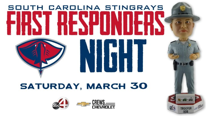Stingrays Giveaway | First Responders Night