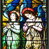 Angels in Stained Glass at Old Town's St. Michael Catholic Church in Chicago. (11 Photos).