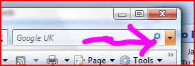 IE7 Search Bar in Vista