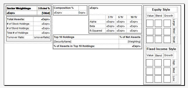 Report Table Layout