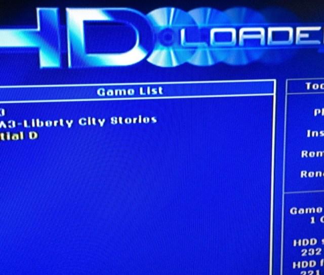 Hdloader List Of Games